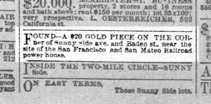 SF Chronicle, 25 Aug 1891.