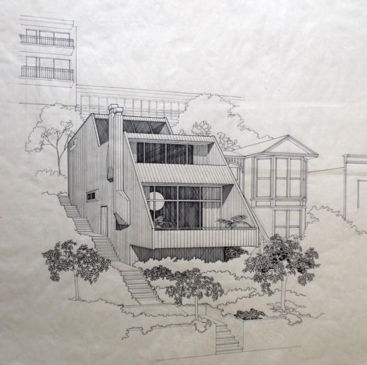 1968. 3406 Market Street. Architect's rendering. Designed by Jonathan Bulkley. Courtesy of the Bulkley family.