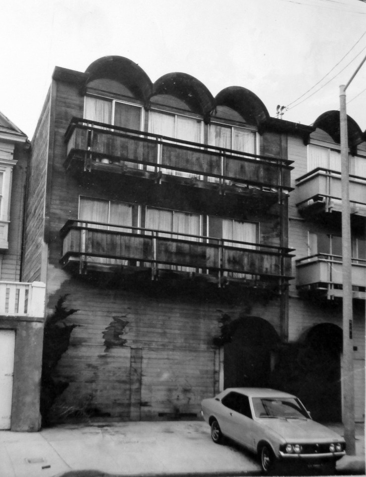 1970c. 422 Monterey Blvd, designed by Jonathan D Bulkley. Showing it's original exposed-wood facade. San Francisco Office of Assessor-Recorder Photographs Collection, San Francisco History Center, San Francisco Public Library