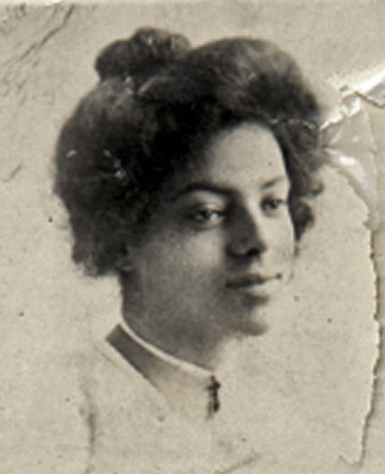 1912c. Irma Tyrrel, around the time of her graduation from Columbia Cosmopolitan grammar school in the Mission. Courtesy Charles Reid/Ivy Reid Collection.