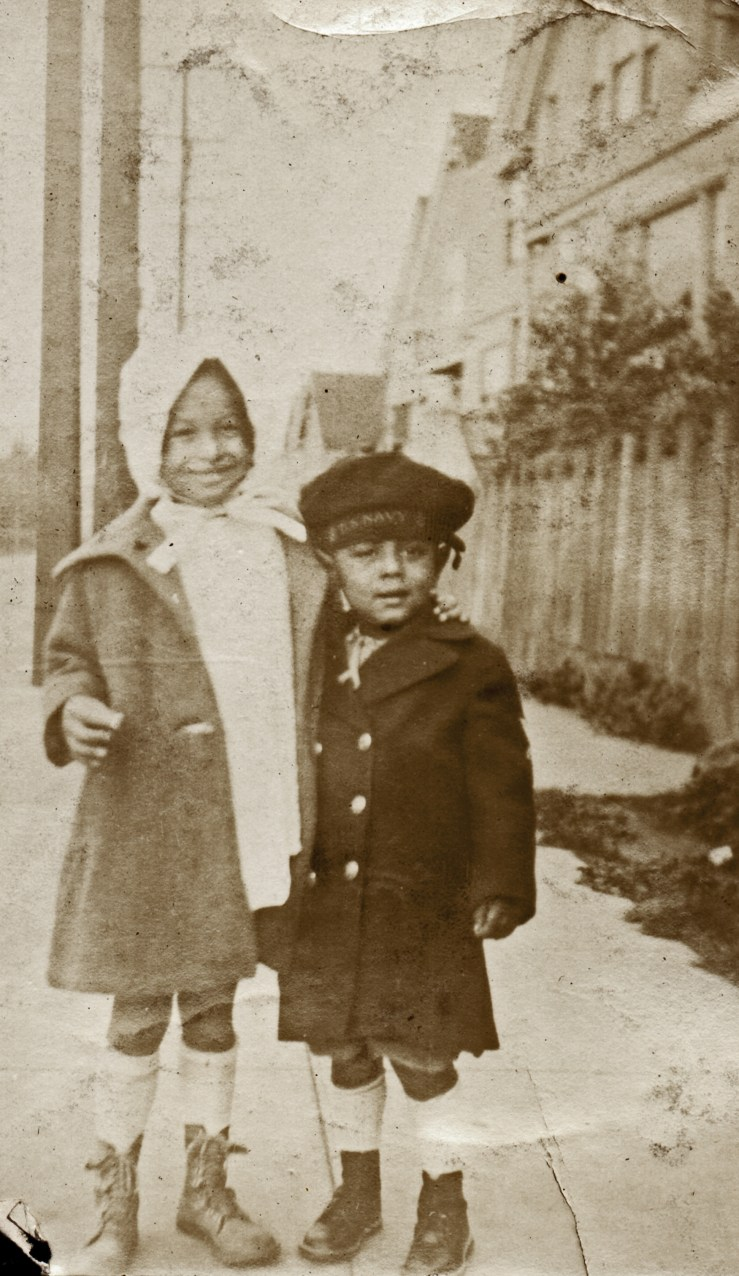 1927c. Bertha Reid and Donald Reid on Chenery Street near their home at 558. Courtesy Charles Reid/Ivy Reid Collection.