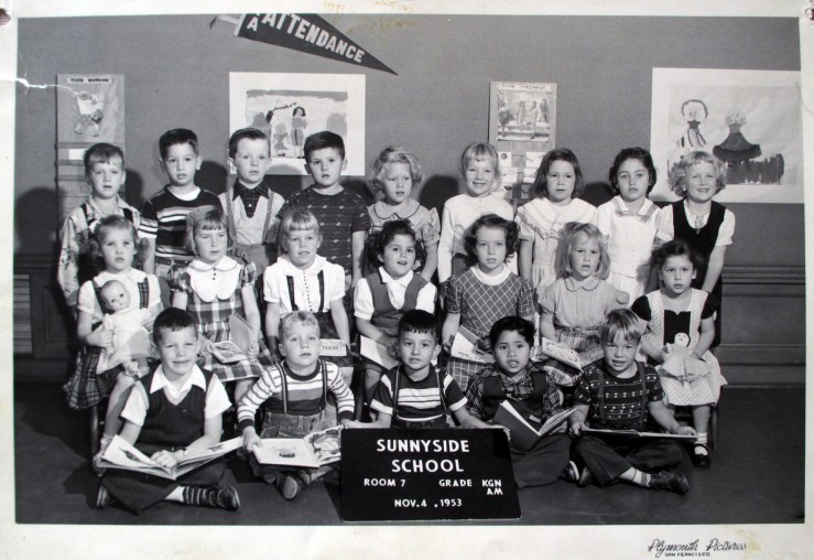 Kindergarten, Sunnyside School, 1953. Courtesy Greg Gaar.