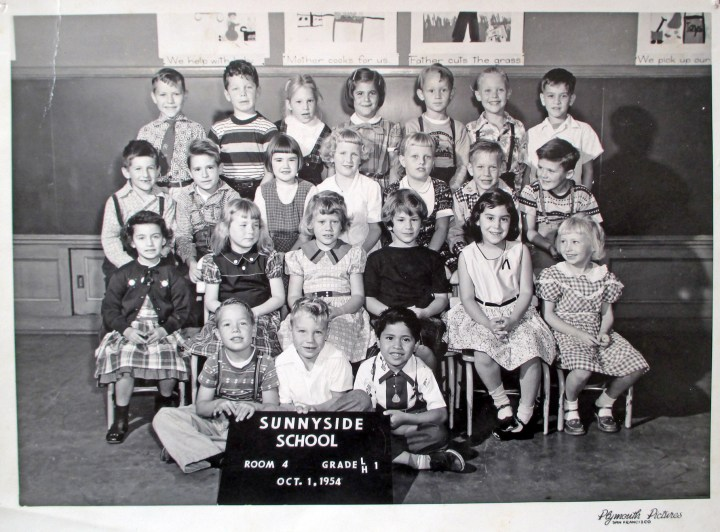 First grade, Sunnyside School, 1954. Courtesy Greg Gaar.