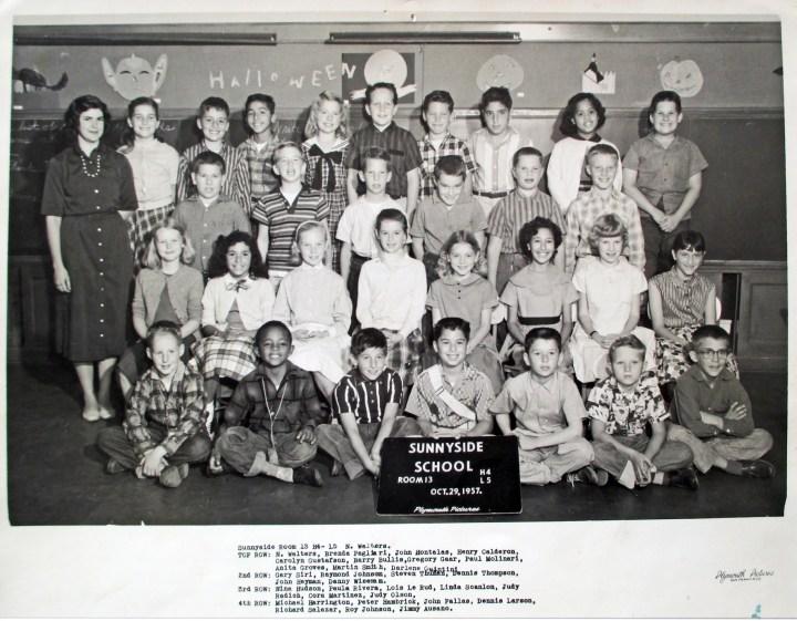 Fourth/fifth grade, Sunnyside School, 1957. Courtesy Greg Gaar.