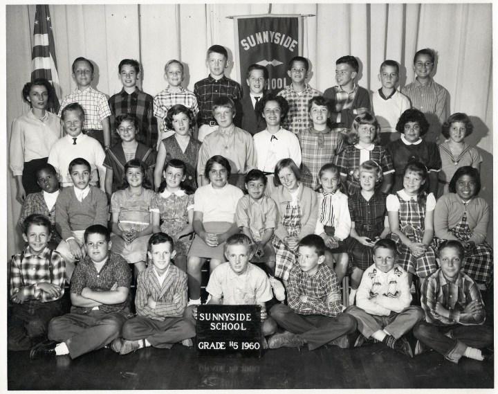 Fifth grade, Sunnyside Elementary School, 1960. Courtesy Julie Spalasso Vozza.