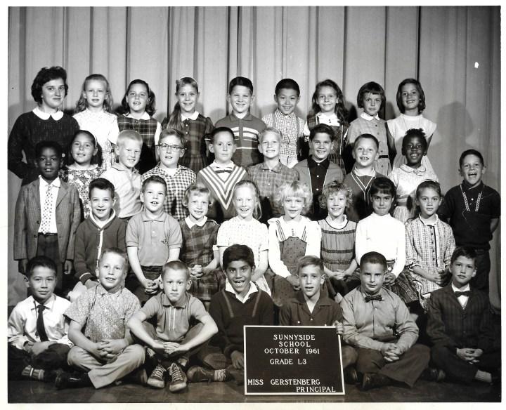 Third grade, Sunnyside Elementary School, 1961. Courtesy Marty Hackett.
