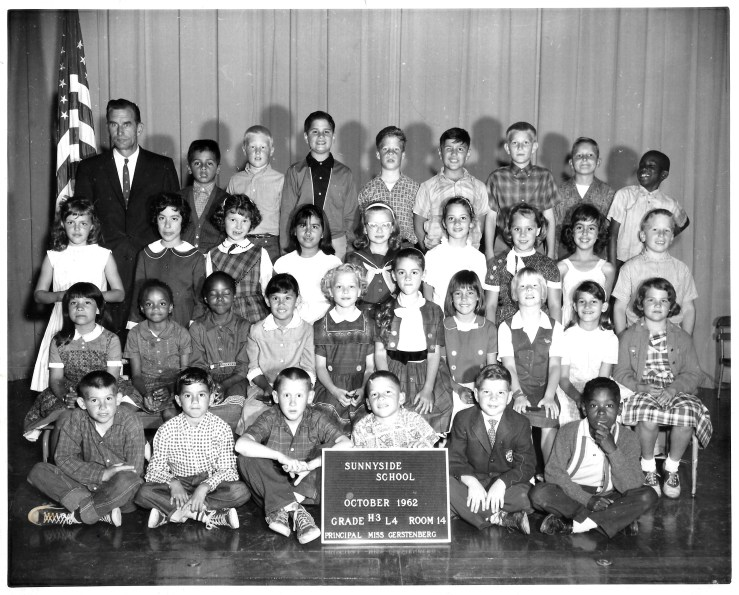 Third/fourth grade, Sunnyside Elementary School, 1962. Courtesy Marty Hackett.