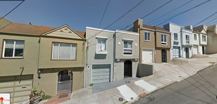 715-731 Ellsworth Street, Bernal Heights. Plov built, 1945.