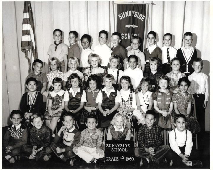 Third grade, Sunnyside Elementary School, 1960. Courtesy Greg Adams. View larger.
