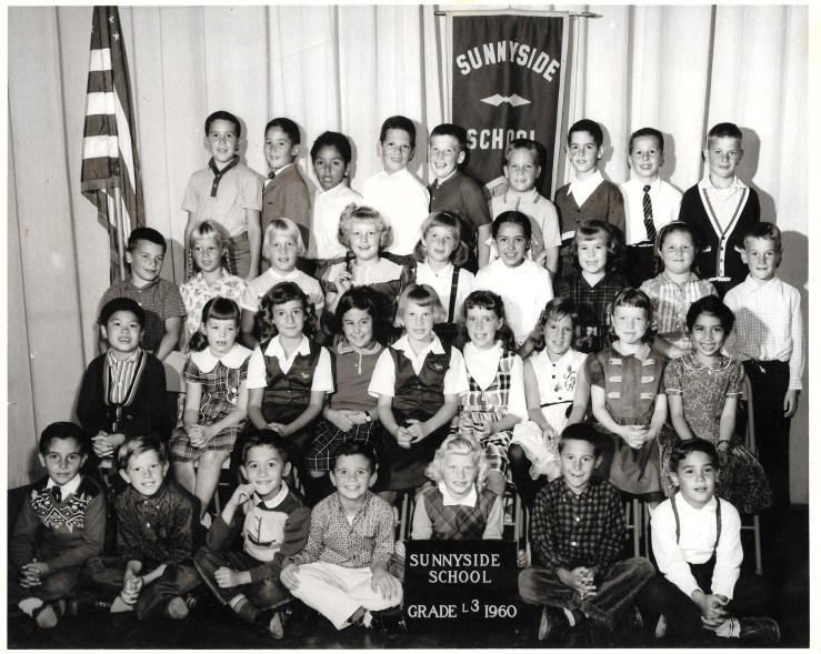 Third grade, Sunnyside Elementary School, 1960. Courtesy Greg Adams. View larger.