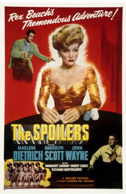 Movie poster for The Spoilers with John Wayne, 1942. WIkimedia.org