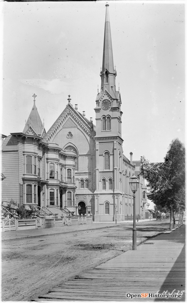 1900c. Grace Methodist Episcopal Church at 21st Street and Capp, where Stanley Foerster and Agnes Zweybruck were married in October 1892. OpenSFHistory.org