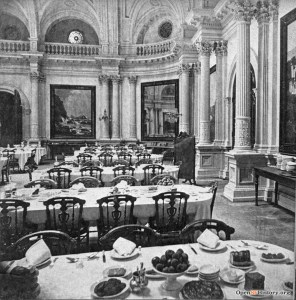 1870s. The dining room at Lick House. OpenSFHistory.org