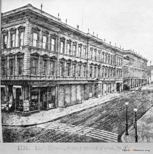 1870s. Lick House, one of the finest hotels in the city then. OpenSFHistory.org