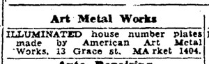 Earliest ad for Fazekas's patented design. SF Examiner, 14 Jan 1933.