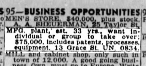1946May12-Examiner-AD-sale-of-business-fazekas