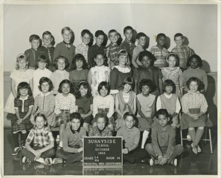 Fourth grade, Sunnyside Elementary School, 1966. Courtesy Anthony Eckstein.