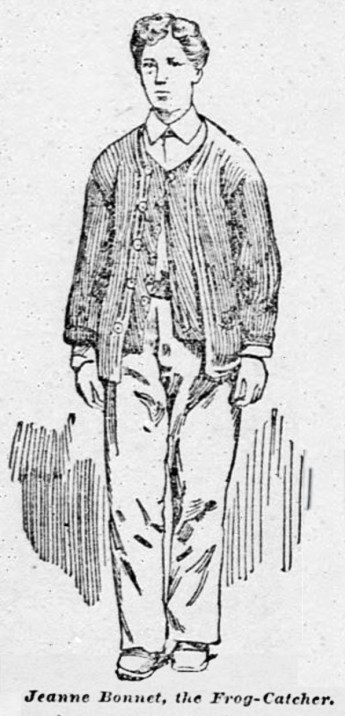Jean Bonnet as drawn by an SF Call artist. 2 May 1893.