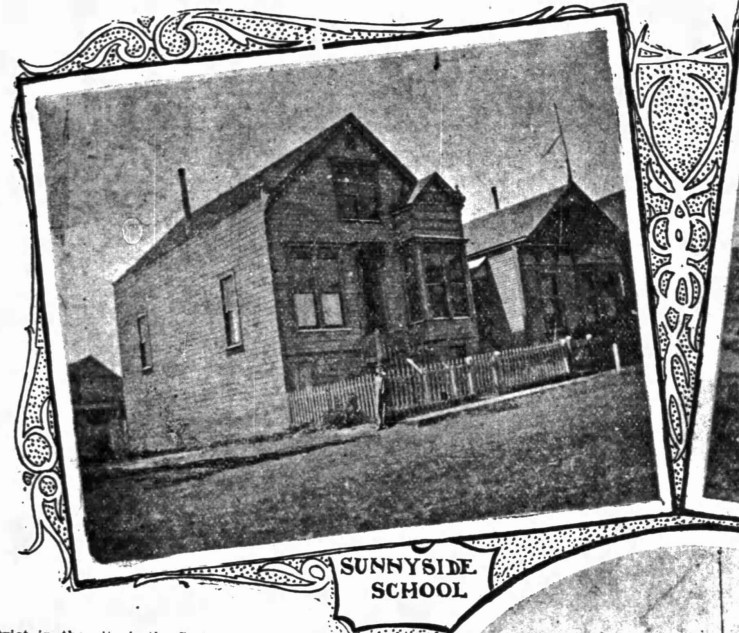 The first Sunnyside School, in a small house. Operated 1896-1911. SF Chronicle, 23 Jul 1899.