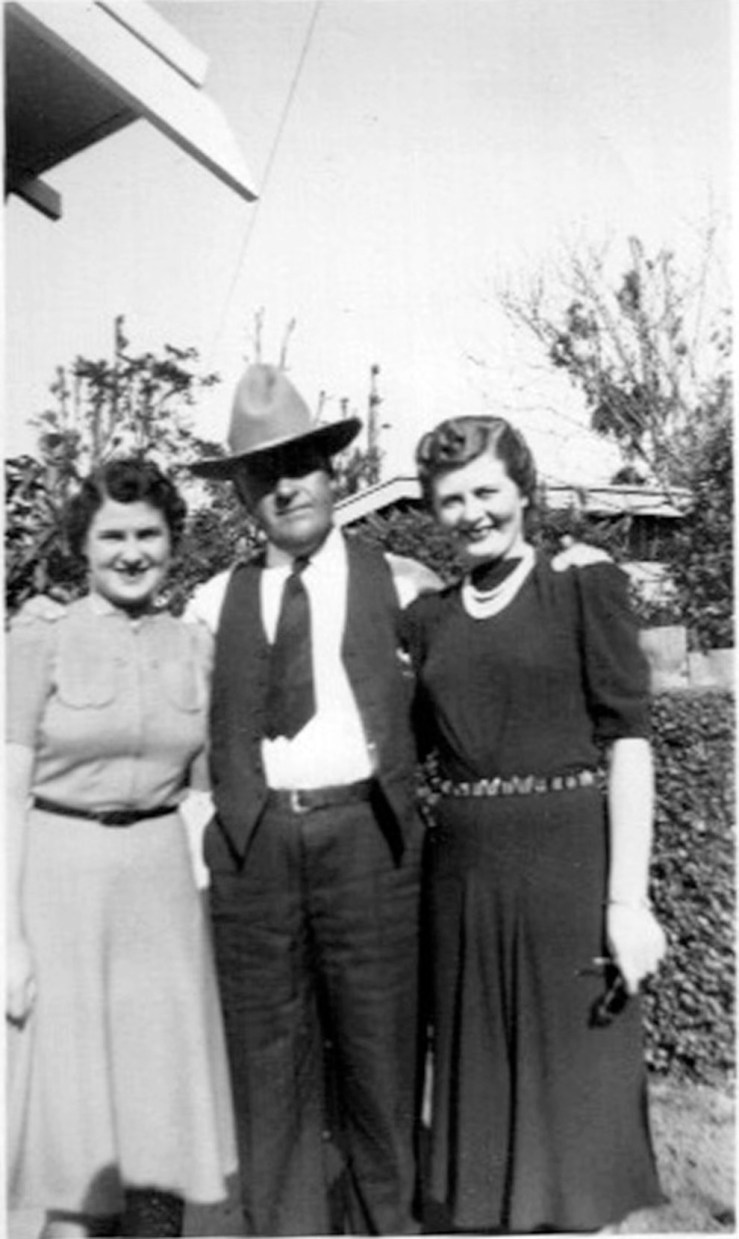 1938. Carl Swanson, at 350 Joost Ave, with daughters Ruth and Vera. Carl built his house and many more in the city. Courtesy Linda Doughty.