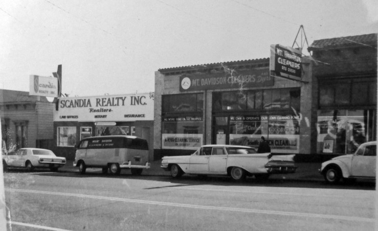 1966c. 769 Monterey Blvd (center). It was a grocery in the 1920s and 1930s, then Mt Davidson Cleaners until the 1970s. San Francisco Office of Assessor-Recorder Photographs Collection, San Francisco History Center, San Francisco Public Library sfpl.org/sfphotos/asr