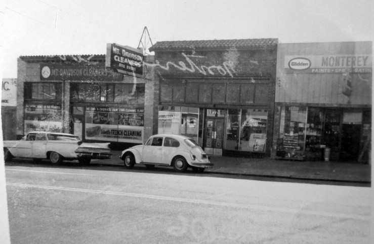 "1966c. 771 Monterey Blvd (center). Originally a ""little emporium"" popular with local kids in the 1920s and 1930s, it was then used by the cleaners next door until the 1970s. Then a liquor store until the 1990s, when it went the way of too many useful shops: real estate office. San Francisco Office of Assessor-Recorder Photographs Collection, San Francisco History Center, San Francisco Public Library sfpl.org/sfphotos/asr"