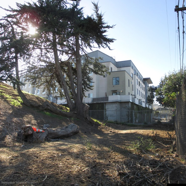View of southwest corner. Balboa Reservoir, Oct 2020. Sunnyside History Project. Photo: Amy O'Hair