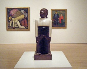 Sargent Johnson, Forever Free, 1933. Behind: two works by Diego Rivera. Photo: Jack Fagan, Flickr.