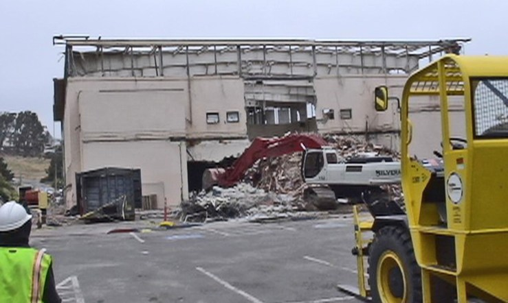 2008. Old City College gyms being demolished. Photo: Will Maynez.