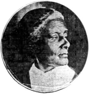 Photo of Mary Ellen Pleasant, SF Chronicle, 9 Jul 1899.