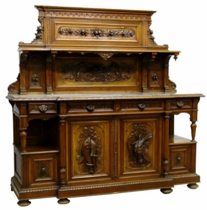 Marble-top sideboard, similar to item sold from Pleasant's boarding house by auction. ebay.com