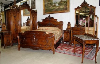 Walnut bedroom suite, similar to one sold from 920 Washington St boarding house in auction. ebay.com