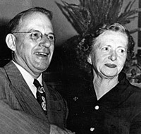 Ralph and Amanda Stephens, originator of the curly fry. About 1950. TampaPix.com