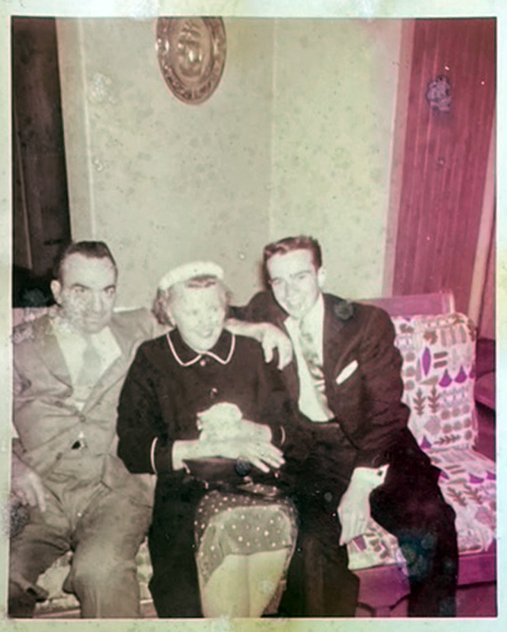 Bruno and Eva Cappa with their son Robert, about 1956. Photo courtesy Marilyn Cappa Kennedy.