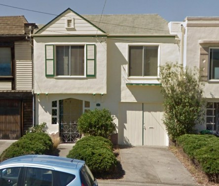 1533 45th Avenue, San Francisco, the home where Jack and Geraldine Young lived at the time of his death. Google Streetview.