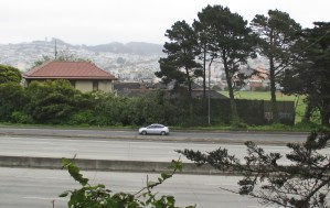 A view of Ingleside station today from the freeway side,