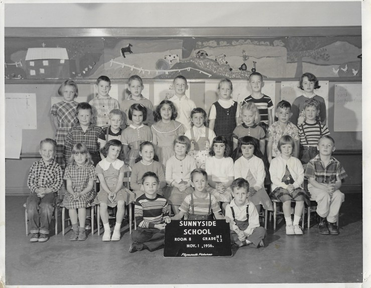 1956. First grade class, Sunnyside School, San Francisco. Photo courtesy Jeanne Molinare Malarky.