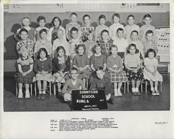1957. Second grade class, Sunnyside School, San Francisco. Photo courtesy Jeanne Molinare Malarky.