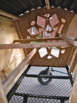 Inside the Gypsy Chicken Wagon