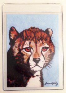 Cheetah Junior Cub  Art Print