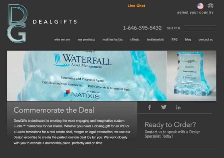 Dealgifts website design