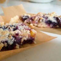 On Being Single, and Blueberry Nectarine Crumb Bars