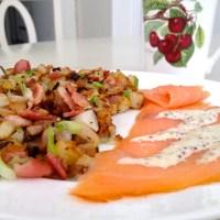 Bacon and Scallion Potato Hash