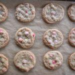 Valentine M&M cookies