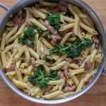 Cheesy Pasta with Sausage, Sage and Kale