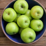 Granny Smith apples in an East Fork Lapis bowl