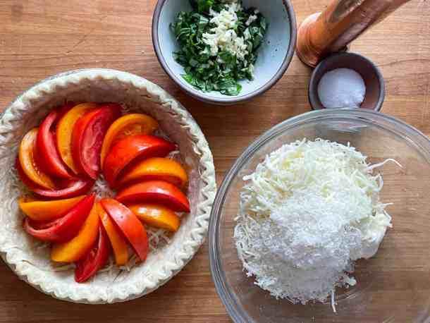 Tomatoes basil garlic