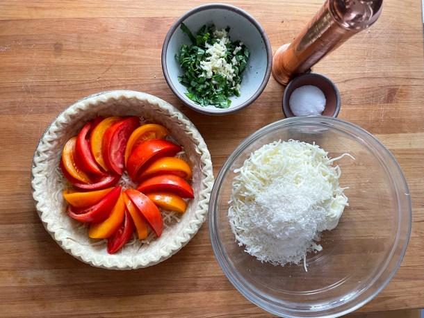 Tomato Basil Pie ingredients