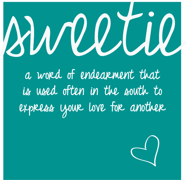 Explains what sweetie can mean