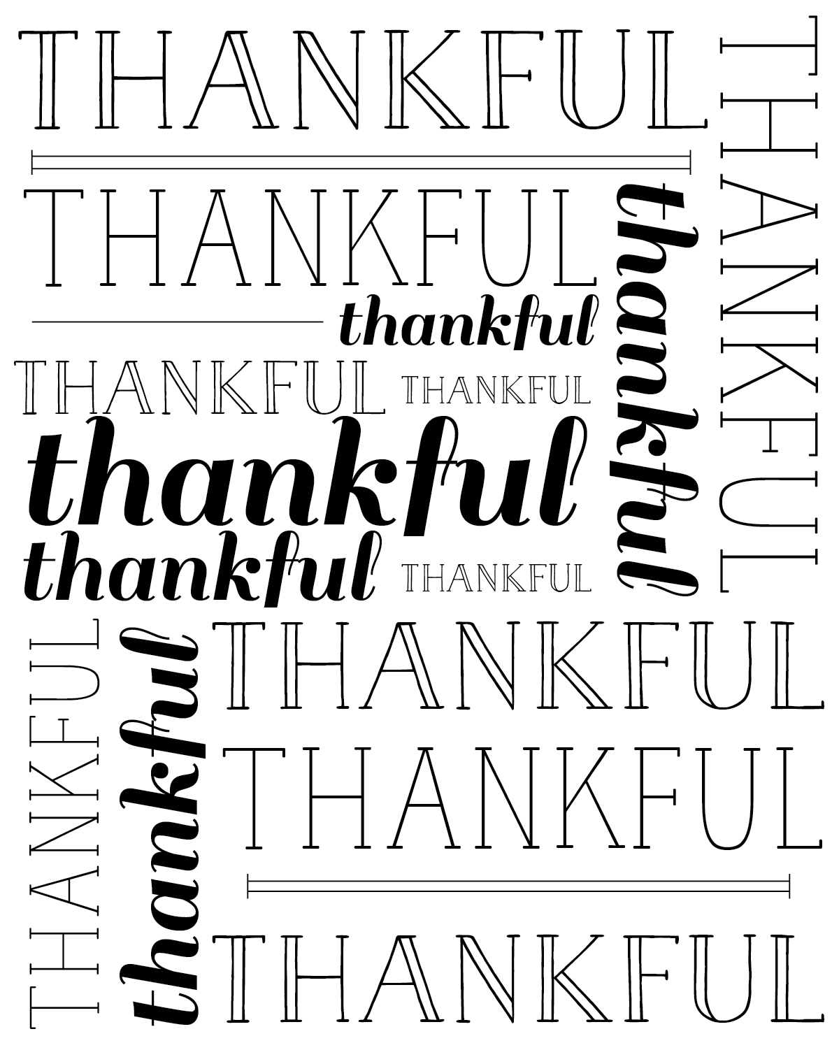 Today I Am Thankful Free Printables